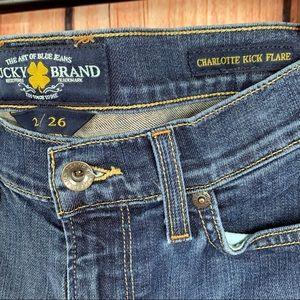 Lucky Brand Charlotte Kick Flare size 2